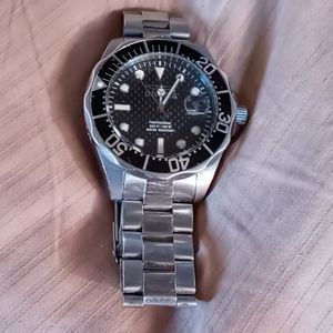 Invicta Stainless Steel Black Face Men's Watch